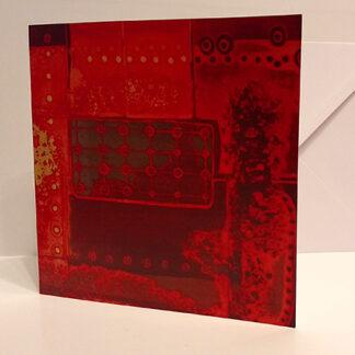 Greetings card of an original etching